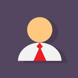 Person profile icon flat design vector Royalty Free Stock Image