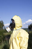 Person in protective clothes Royalty Free Stock Photo