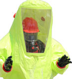 Person with protective yellow suit stock photos