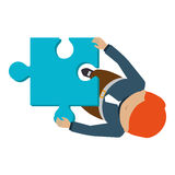 Person with puzzle pieces game icon. Illustration design Royalty Free Stock Photography