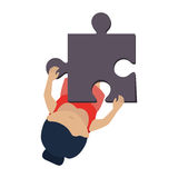 Person with puzzle pieces game icon. Illustration design Royalty Free Stock Images