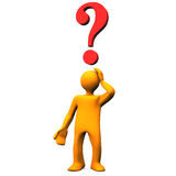 Person with question mark Stock Photos