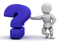 Person with question mark Stock Photo