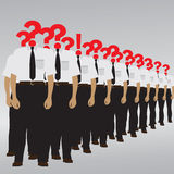 The person with a question mark and an exclamation mark. Royalty Free Stock Image