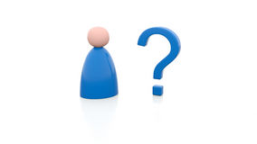 Person and question mark. Illustration of a person and a question mark Royalty Free Stock Photo