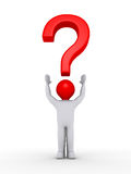 Person with question mark symbol over his head Royalty Free Stock Image