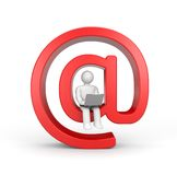 Person read emails or surfing in internet Royalty Free Stock Photo