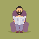 Person reading the newspaper Royalty Free Stock Images