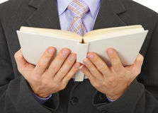 Person reads a book Royalty Free Stock Photography