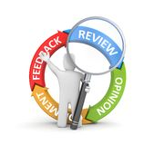 Person reads review Royalty Free Stock Photos