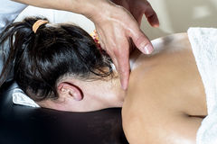 Person Receiving  massage Stock Images
