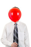 Person with Red Ball Royalty Free Stock Images