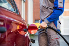 Person Refueling Car`s Tank Royalty Free Stock Photos