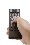 Person with a remote control Royalty Free Stock Photos