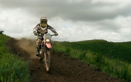 Person Ride on Dirt Bike during Daytime Stock Photography