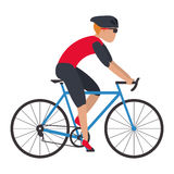 person riding bike Stock Photo