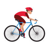 person riding bike Stock Photography