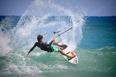Person Riding Surf Board royalty free stock photos