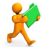 Person running with folder Stock Images