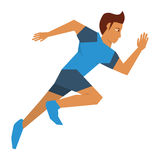 Person running icon design Royalty Free Stock Photo