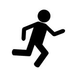 Person running icon design Royalty Free Stock Image