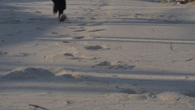 Person Running Through Sand en Vuil stock footage