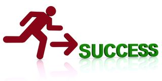 Person running to success Stock Images