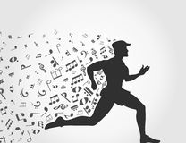 Music run Stock Images