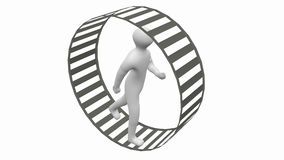 Person runs in a wheel Royalty Free Stock Image