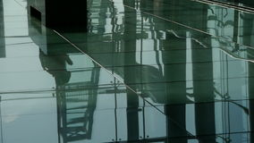 Person's shadow,Figure reflection on marble floor at Luxury mall,shadow,hall,overlooking,wealth. stock video footage