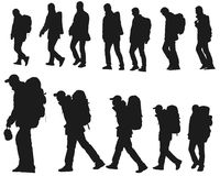 Person's silhouette Stock Photo