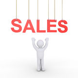 Person sales offering Stock Image