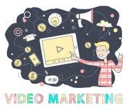 Person Screen Vector Illustration de commercialisation visuel illustration stock