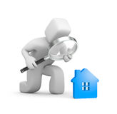 Person searching a new house Stock Photography