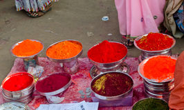 Business of colors in Kumbh festival 2013 Royalty Free Stock Photo