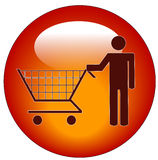 Person shopping icon Stock Photos