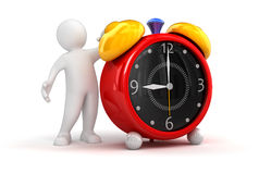 Person showing alarm clock Royalty Free Stock Images