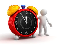 Person showing alarm clock Royalty Free Stock Photos