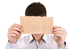 Person showing Blank Cardboard Royalty Free Stock Photos