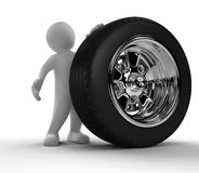 Person showing Car Wheel Stock Images