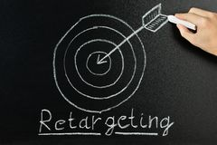 Person Showing Retargeting Concept Fotografering för Bildbyråer