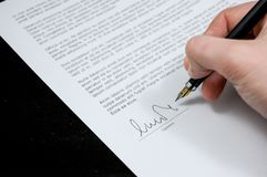Person signing agreement