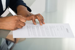 Person Signing Contract Stock Photography