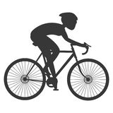 person silhouette riding a bike Royalty Free Stock Photo