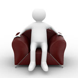 Person sitting in armchair Stock Images