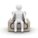 Person sitting in an armchair. Stock Photos