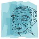 Person Sketch anziano astratto - illustrazione Fotografia Stock Libera da Diritti
