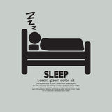 Person Sleeping In Bed Symbol Imagem de Stock