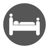 person sleeping pictogram hotel or motel icon image Royalty Free Stock Images