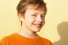 The person smiling boy. Royalty Free Stock Photos